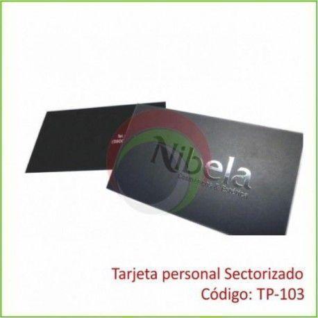 Tarjeta Personal Sectorizado