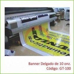 Banner Delgado de 10 onz.