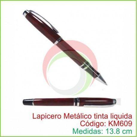 Lapicero Metálico tinta liquida KM609