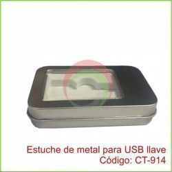 Estuche de metal para USB llave