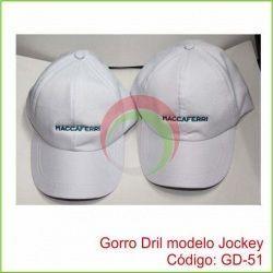 Gorro Drill modelo Jockey