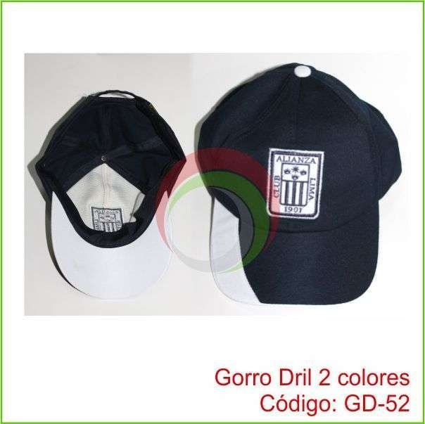 71b57a31ae655 Gorro de Drill modelo Jockey 6 Capas