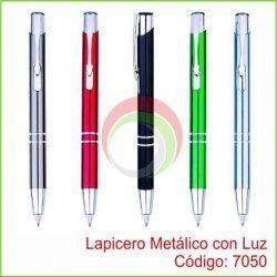 Lapicero Metalico con Luz - 7050