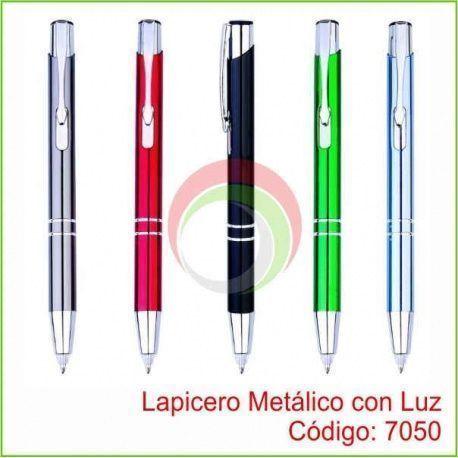 Lapicero Metalico con Luz 7050
