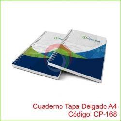 Cuaderno Tapa Delgado A4