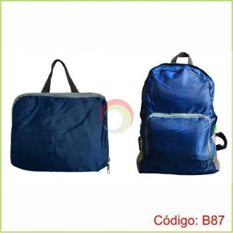 Mochila colapsible color azul