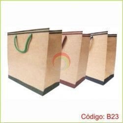 Bolsa Ecologica de Papel 23x20x10