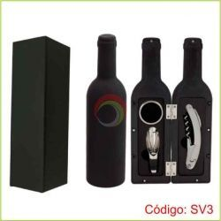 Set de Vino forma botella
