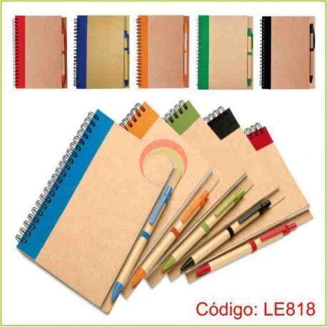 Libreta ecologica con lapicero le818