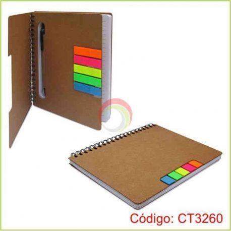 Libreta ecologica con lapicero ct3260