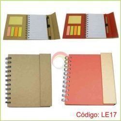 Libreta ecologica imantada con post it