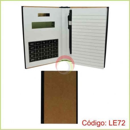 Libreta ecológica con calculadora