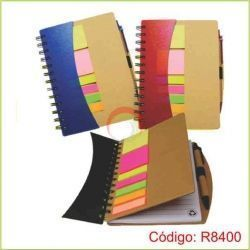 Libreta Ecológica con Post It R8400