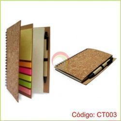 Libreta Ecologica de Corcho CT003