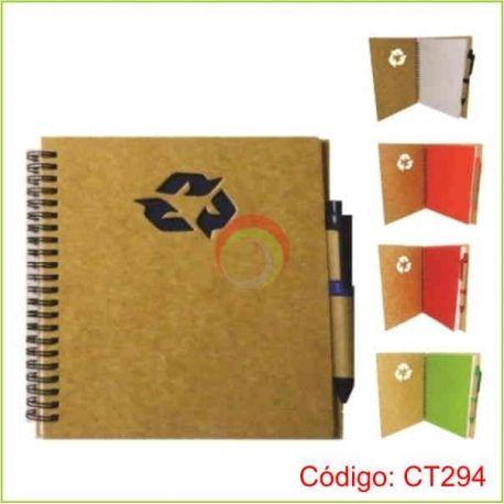 Libreta ecologica a5 con lapicero