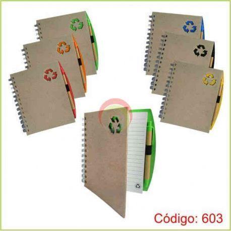 Libreta ecologica con lapicero 603