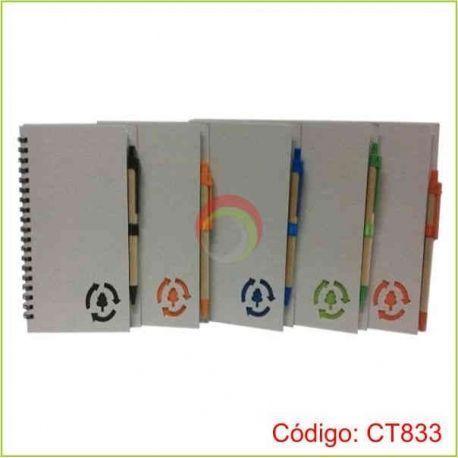 Libreta ecologica con lapicero ct833