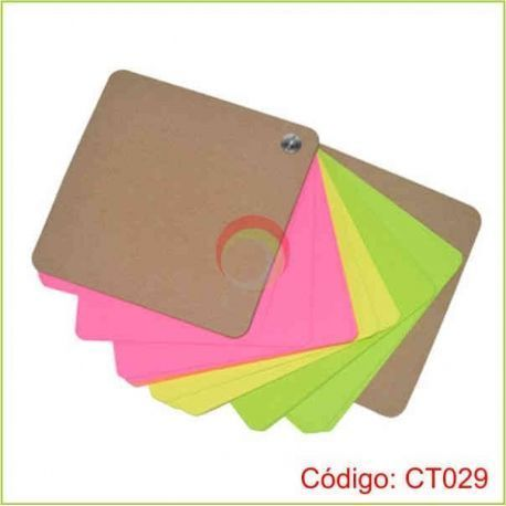 Taco giratorio con hojas de colores