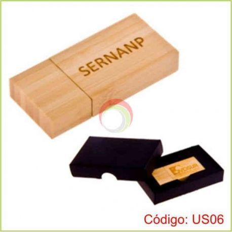 Usb bamboo color arena de 4gb
