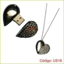 Usb corazon metalico de 8gb