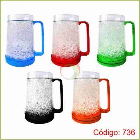 Jarro mug frosty de colores