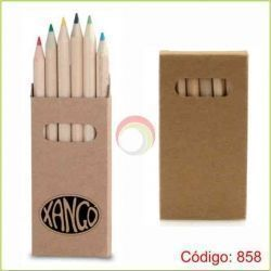 Lapices de colores con caja natural