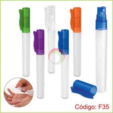 Frasco gel antibacterial spray 10 ml