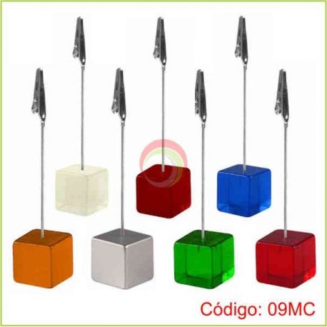 Memo clip cubo de colores