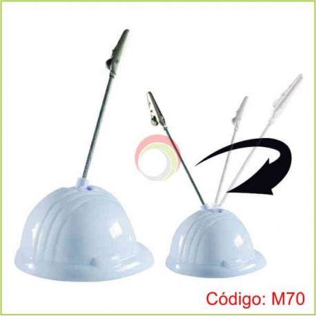 Memo clip con base de casco