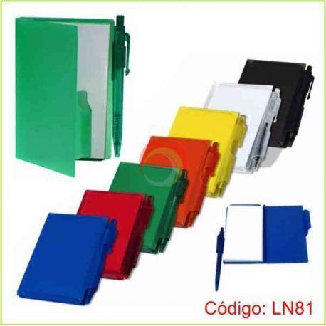 Libreta de notas plastico