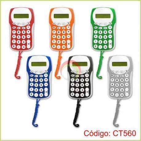Calculadora colgante de colores