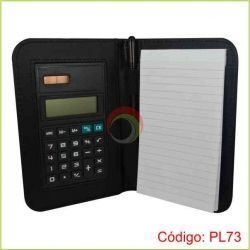 Porta notas con lapicero y calculadora