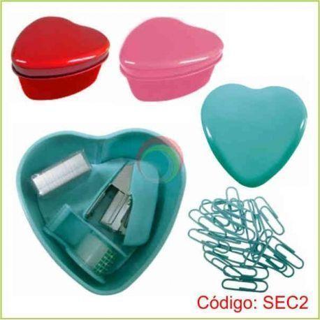 Set de escritorio corazon