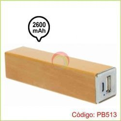 Power bank de madera
