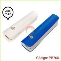 Power Bank con Linterna de 2600 mAh