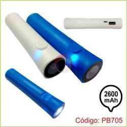 Power bank con linterna 2600 mah