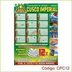 Calendarios de pared 70 x 50