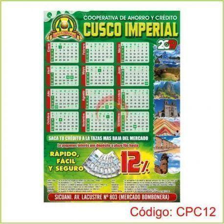 Calendarios de pared 70 x 50