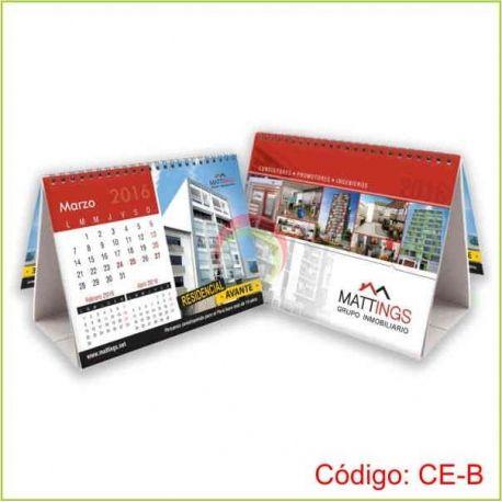 Calendario de escritorio con base foldcote