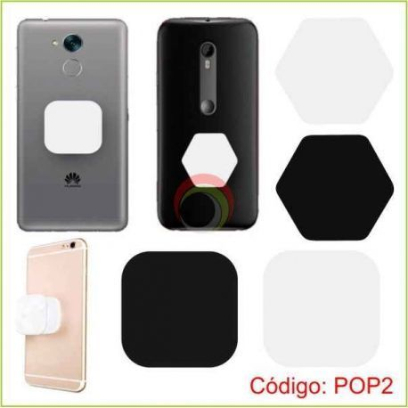 Pop Socket Cuadrado y Hexagonal