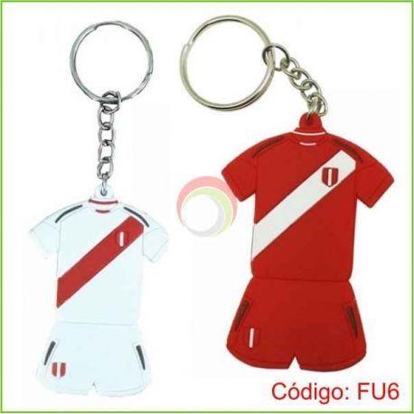 Llavero PVC Camiseta Peru
