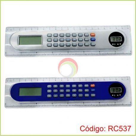 Regla calculadora con reloj