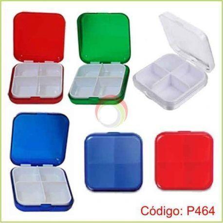 Porta pastillas de plastico cuadrada