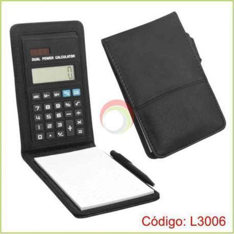 Libretas de notas con calculadora