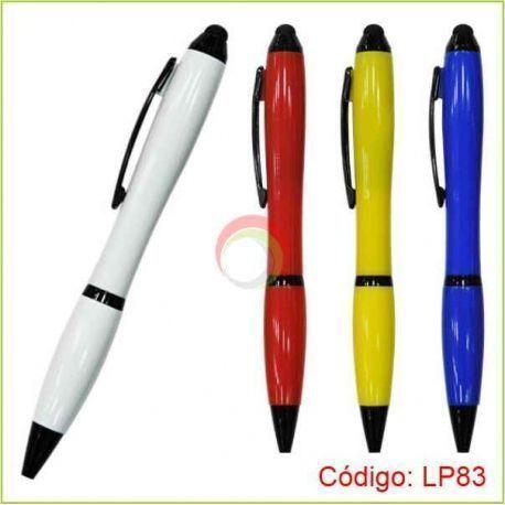 Lapiceros plasticos con touch lp83