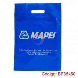 Bolsa Plástica Asa Parche de 35x50