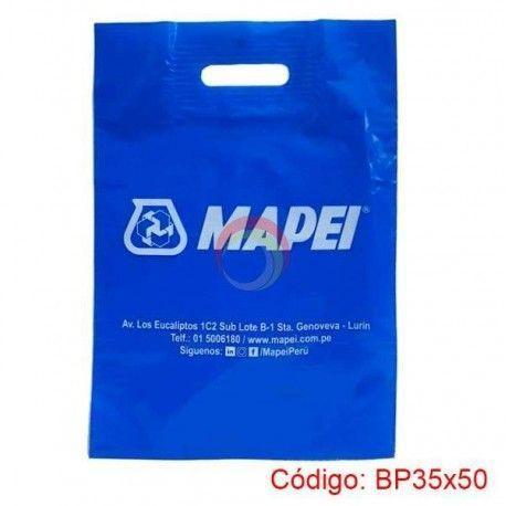 Bolsa Plastica Asa Parche de 35x50