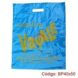 Bolsas Plásticas con Asa Parche de 40x50