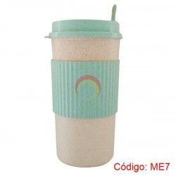 Mug con Removedor Fibra Paja Trigo