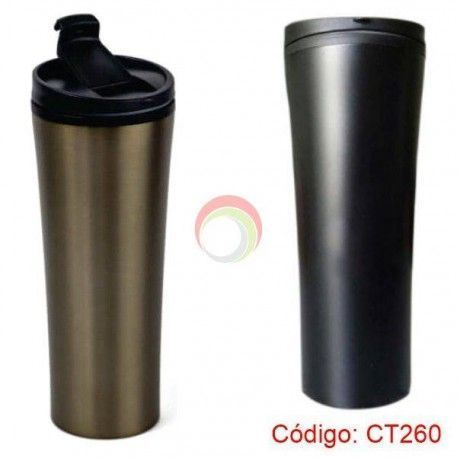 Travel mug metalico